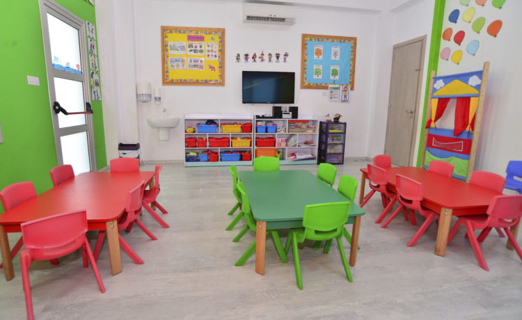 A big classroom, fully equipped with a big variety of games and activities, which keep even the most active children occupied!